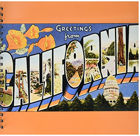 Amazon 3drose db1802242 greetings from california scenic 3drose db1802242 greetings from california scenic vintage postcard memory book 12 by 12 m4hsunfo Gallery