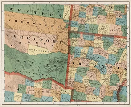 Amazon Com National Atlas 1852 Arkansas Oklahoma Texas