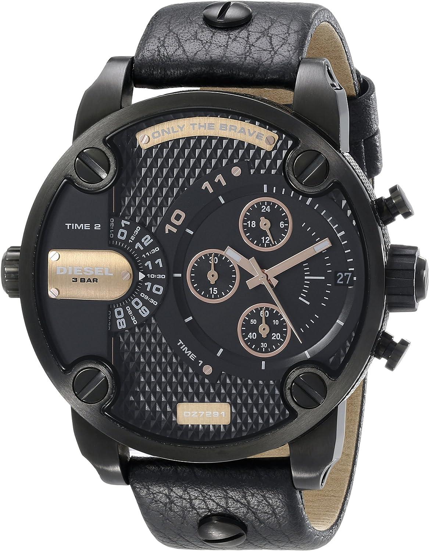 Diesel Reloj Analógico para Hombre de Cuarzo con Correa en Cuero 8431242481852