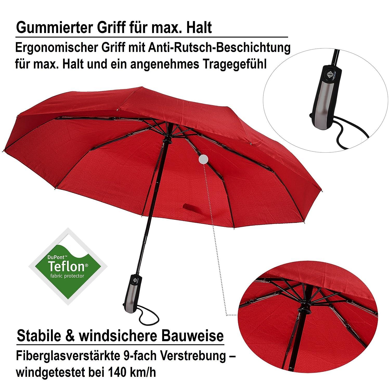 Van Beeken Parapluie pliant Rouge Rot