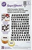 Wilton Black and White Alphabet Sugar Sheet