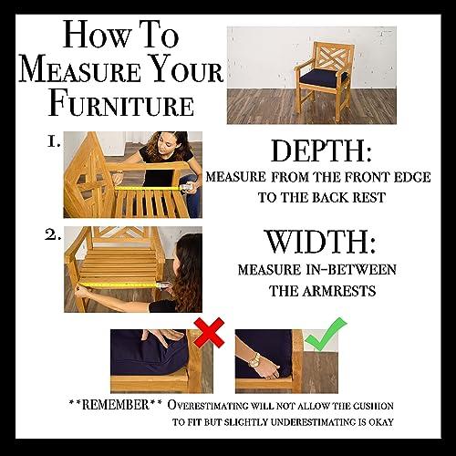 Mozaic AMCS105493 Indoor or Outdoor Sunbrella Square Chair Seat Cushions Set