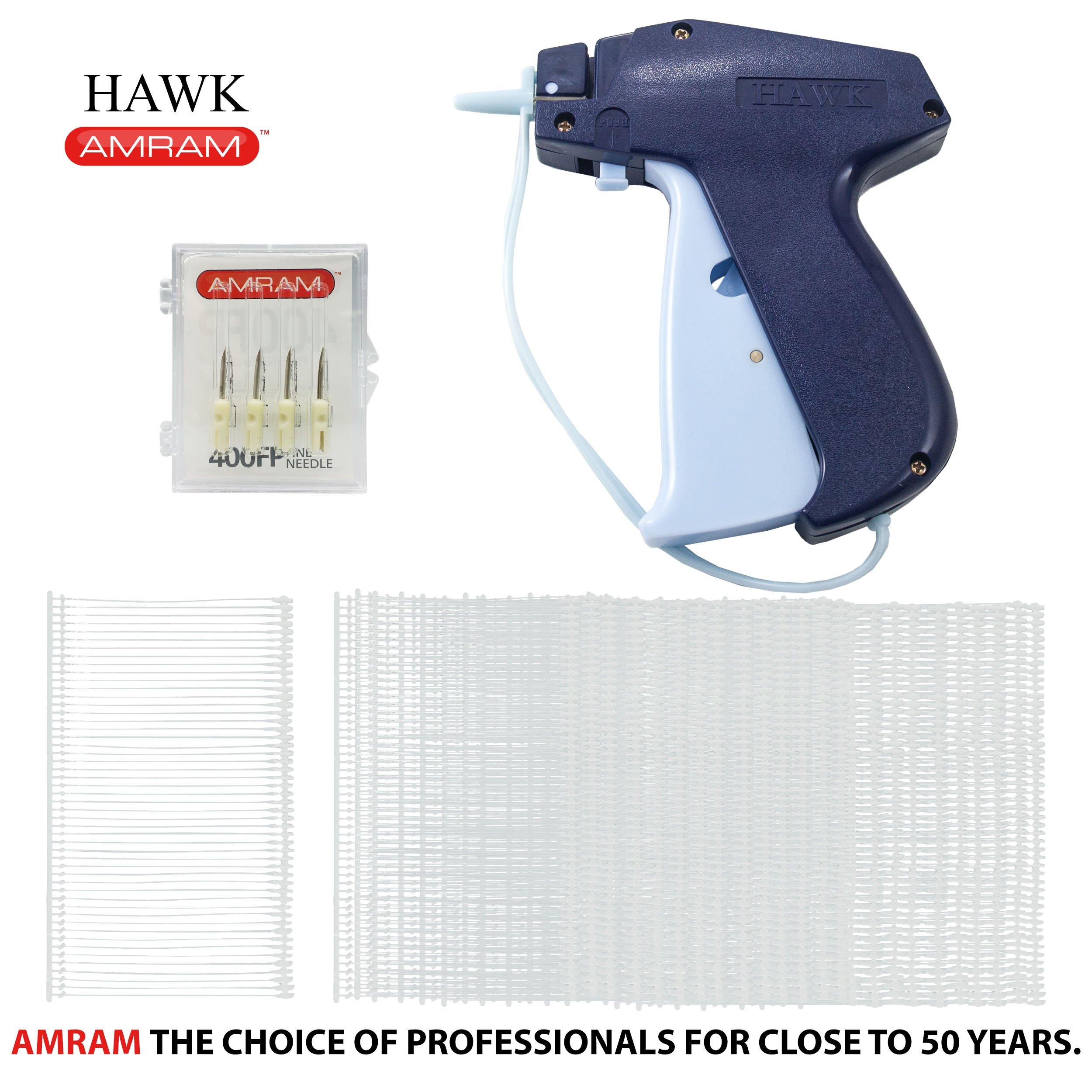 Amram Hawk Fine Tagging Gun Kit. Includes 1250 2'' Attachments and 5 Needles