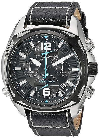 Bulova 98B226 - Reloj para hombres, correa de cuero color negro: Amazon.es: Relojes