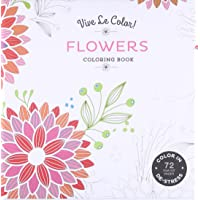Flowers (Coloring Book): Color In; De-stress (72 Tear-out Pages)