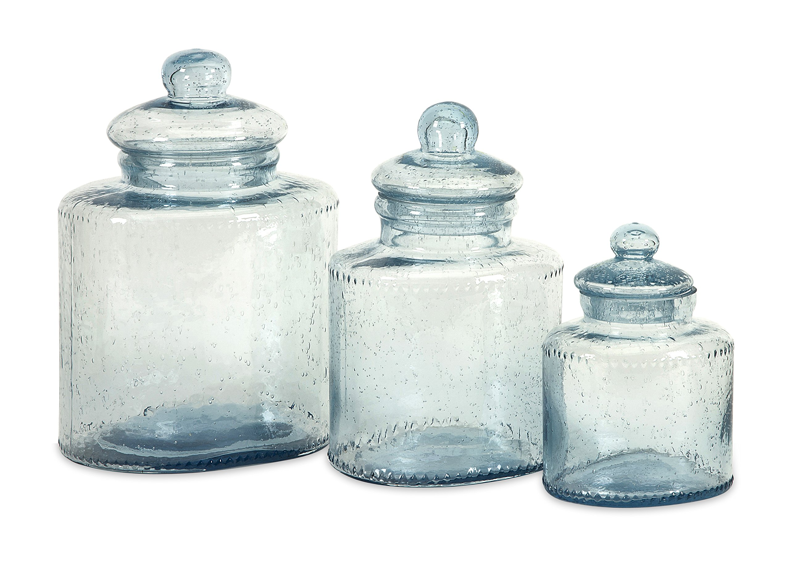 Imax 73217-3 Cyprus Glass Canister, Set of 3