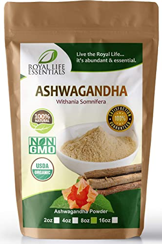 Ashwagandha Root Powder 8oz Boost Running Endurance Energy Now 100 Raw Organic Herbal Supplement Superfood Sexual Vitality Immune System Smoothies Shakes Vegan Vegetarian