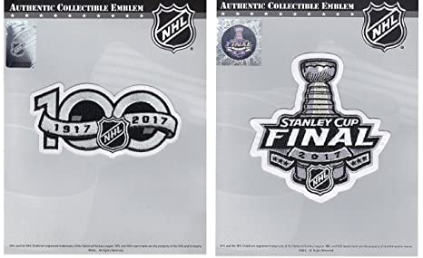 f421c2005 Image Unavailable. Image not available for. Color  Official NHL 2017  Stanley Cup Finals and 100th Anniversary Patches ...