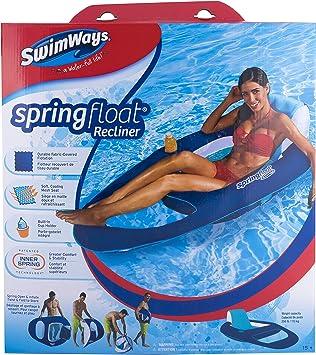 SwimWays Spring Float Recliner Tumbonas flotante - Flotadores para ...
