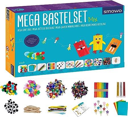 Smowo Mega Bastelset Starterset Bastelbox Mix Mit Kreativen Bastelideen Bunte Bastelbedarf Box Zum Basteln Für Mädchen Und Jungs