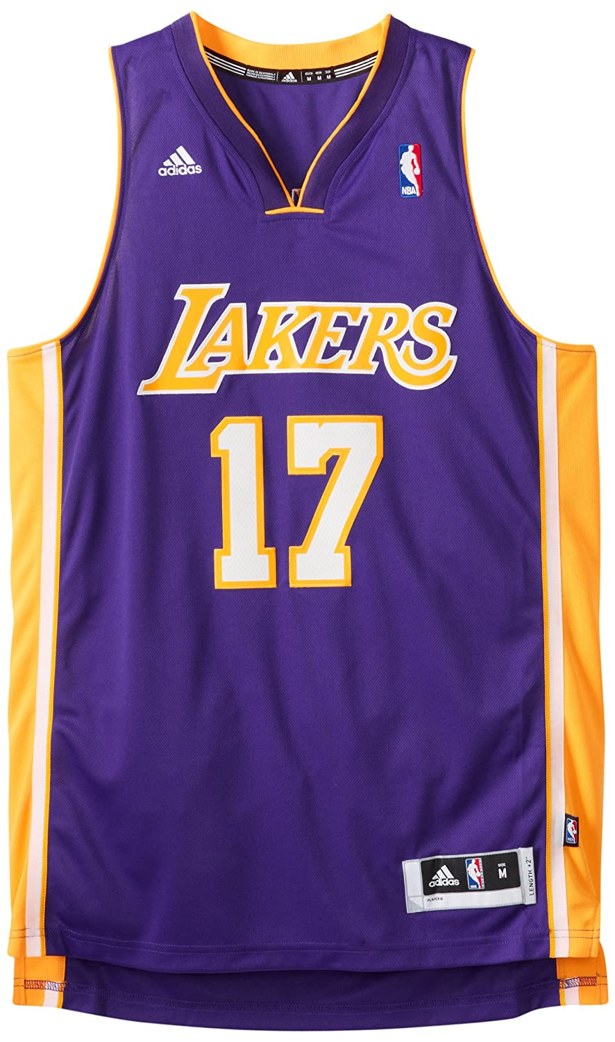 744bfc6745b Amazon.com   NBA Los Angeles Lakers Swingman Jersey Andrew Bynum  17    Sports Fan Jerseys   Sports   Outdoors