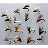Trout fishing CDC EMERGERS F FLY tied with CDC 16 Flies FREE FLY BOX sizes 12-14 Quality UK PACK#317
