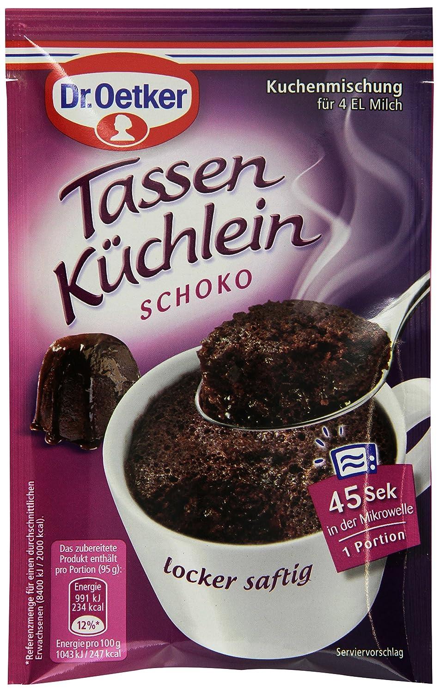 Dr Oetker Tassenkuchlein Schoko 12er Pack 12 X 55 G Amazon De