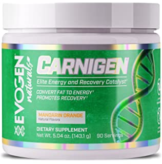 EVOGEN CARNIGEN Naturals, Carnitine Fat Burning Powder, Carnitine Tartrate, Acetyl-l-