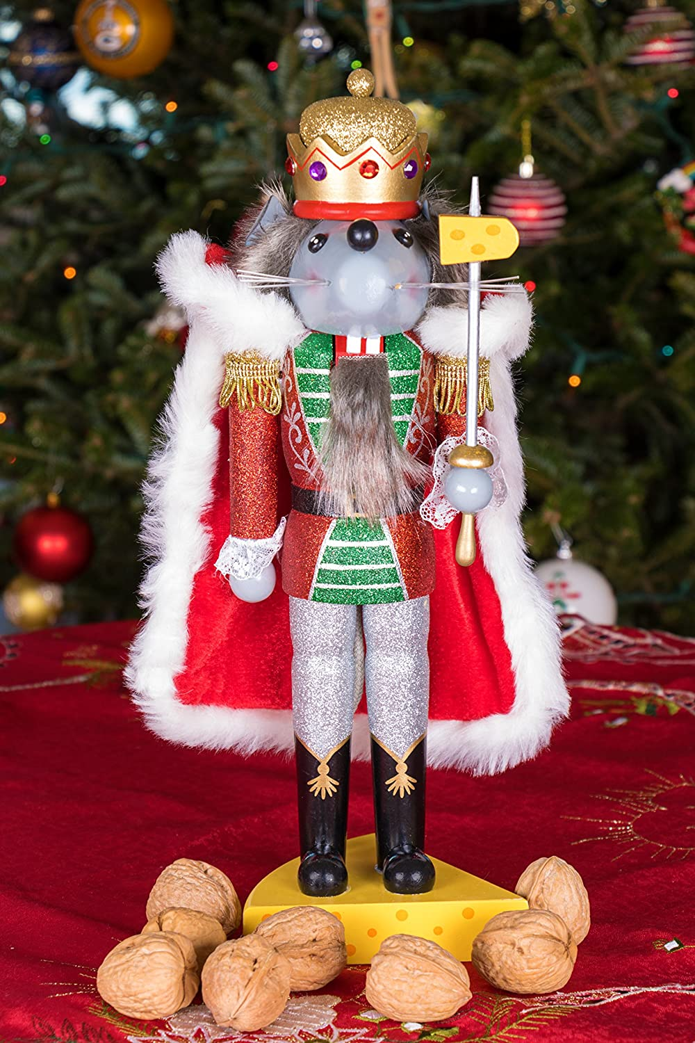 Amazon.com: Traditional Wooden Mouse King Nutcracker by Clever ...