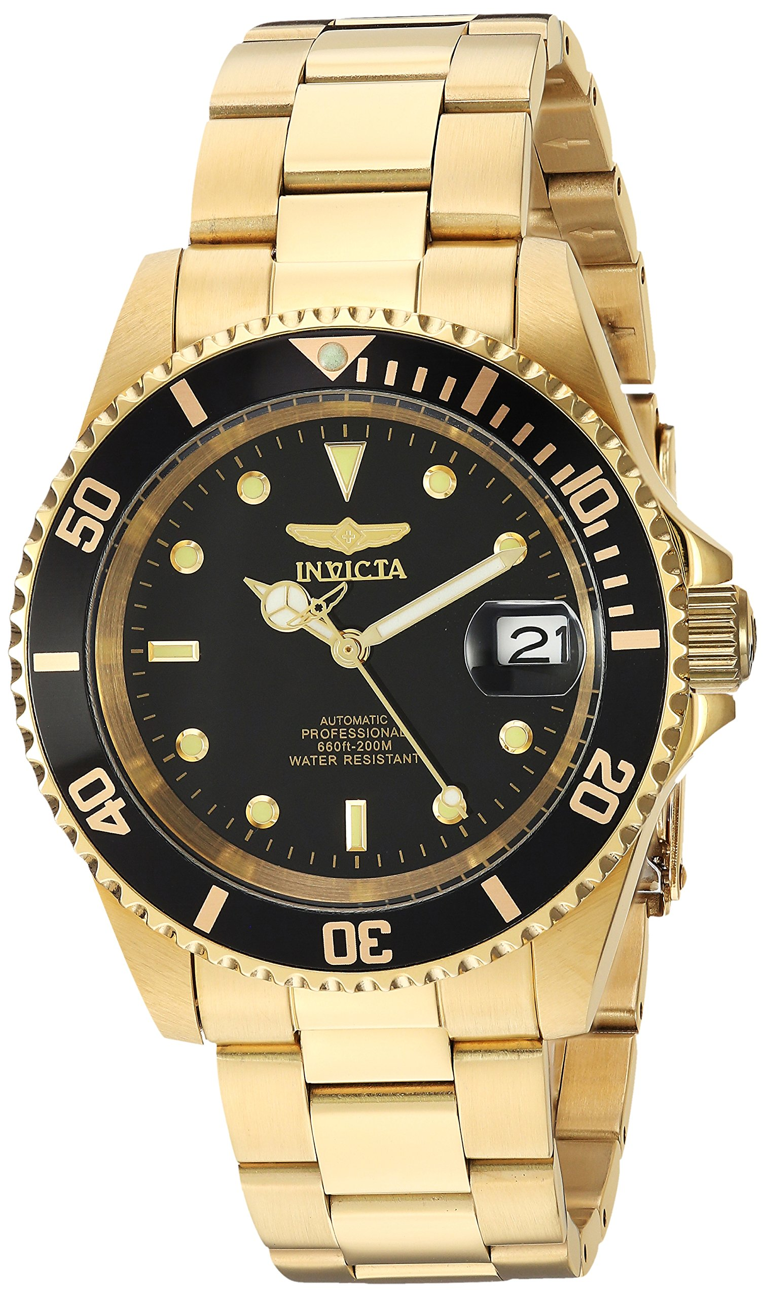 Invicta Men's 8929OB Pro Diver Analog Display Japanese Automatic Gold/Black Watch by Invicta