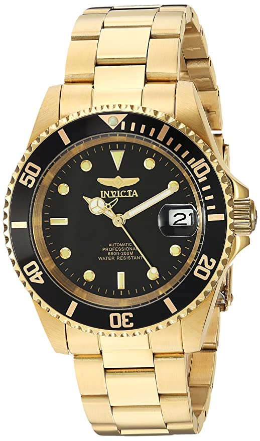 Reloj Invicta mecánico dorado