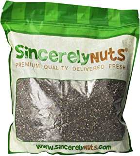 Sincerely Nuts Black Chia Seeds - Three lbs Bag - Natural Superfood | Raw, Gluten