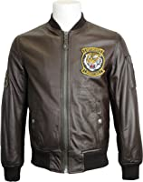 Schott NYC LC6304 US Airforce Real Leather MA-1 Bomber Jacket Black, Brown, Navy