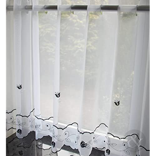 Just Contempo Café Net Curtains   Kitchen Nets Ready Made Voile Curtain  Panel