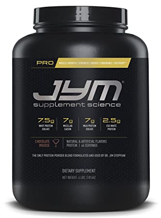 JYM Protein Blend with Whey, Casein and Egg Proteins, Chocolate Mousse – 4 Pounds