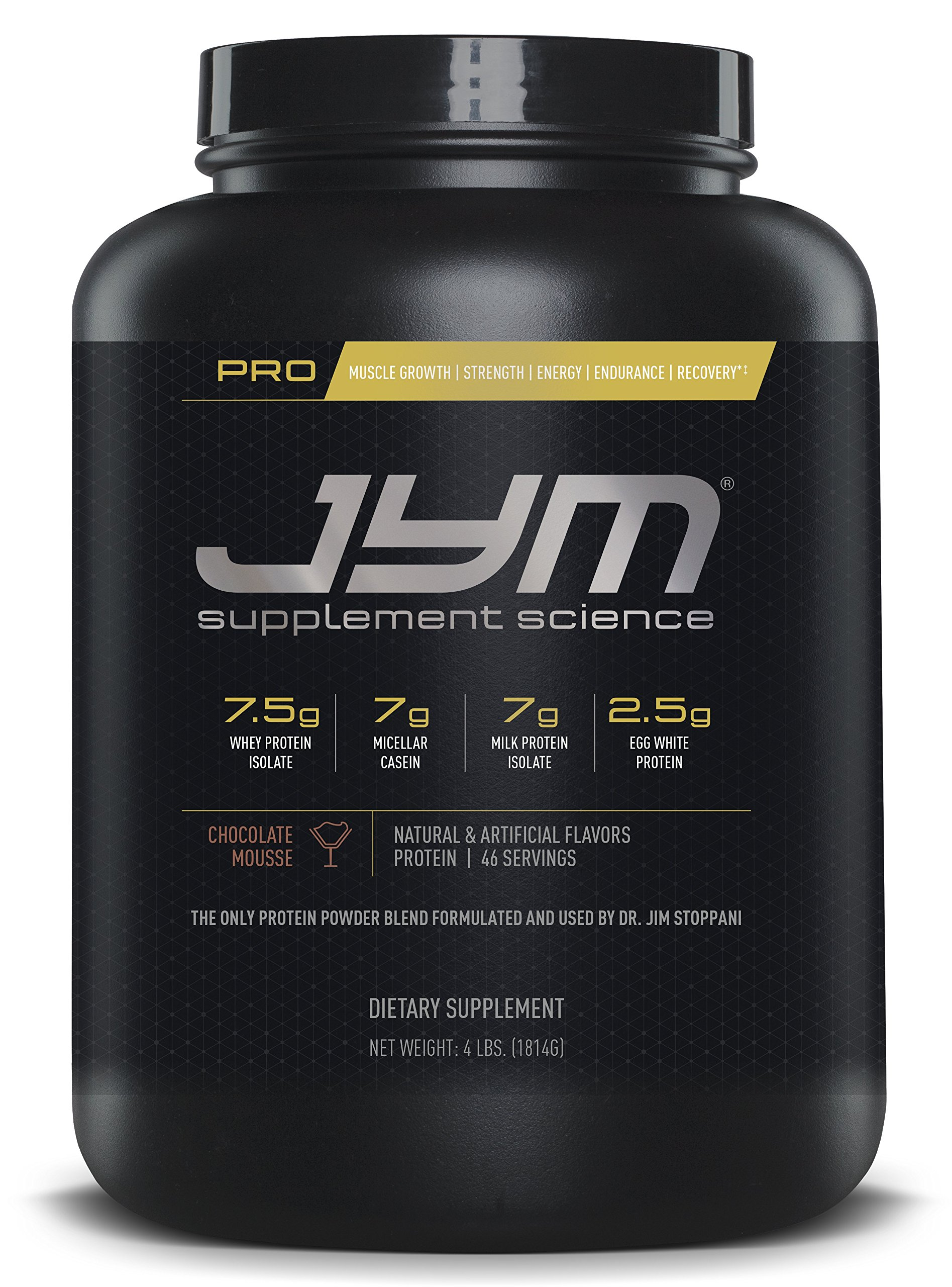 JYM Protein Blend with Whey, Casein and Egg Proteins, Chocolate Mousse - 4 Pounds