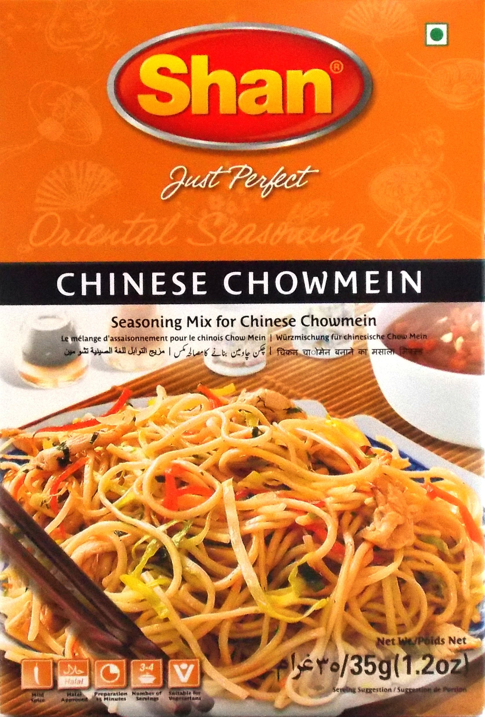 Shan Chinese Chowmein Seasoning Mix (35g) - Pack of 6