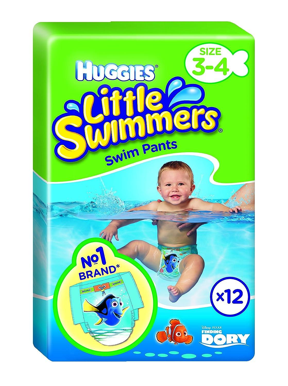 Huggies Little Swimmers desechables pañales de nadar, tamaño 3 - 4 - 72 pantalones total: Amazon.es: Salud y cuidado personal