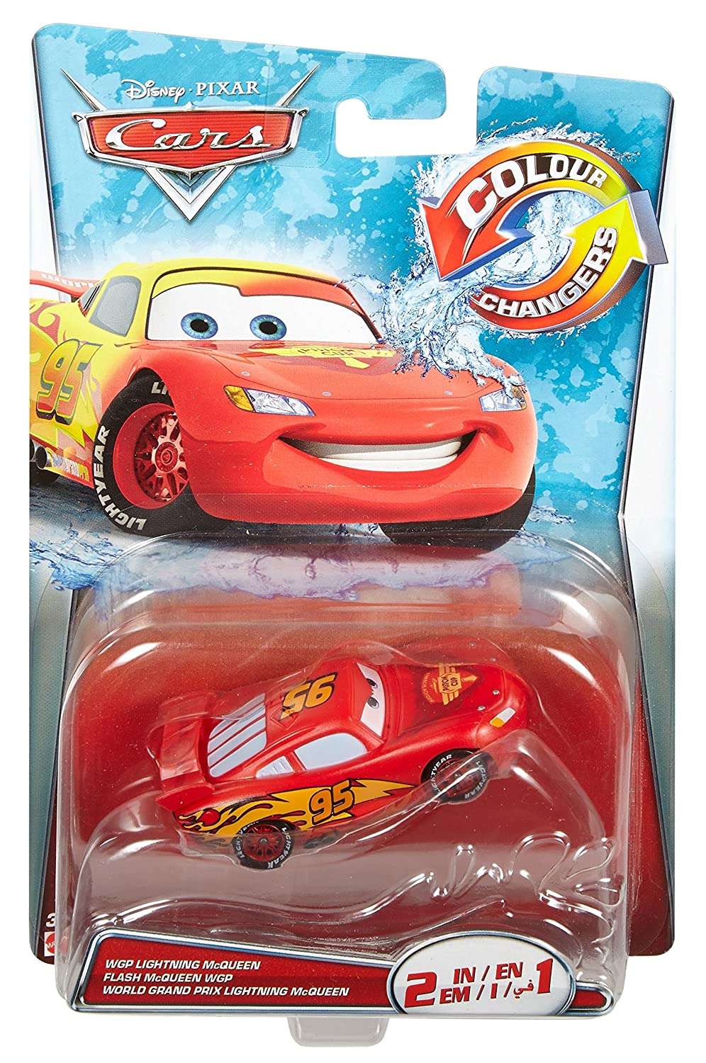 amazoncom disneypixar cars color changer lightning mcqueen red to yellow vehicle toys games - Mcqueen Flash Mcqueen