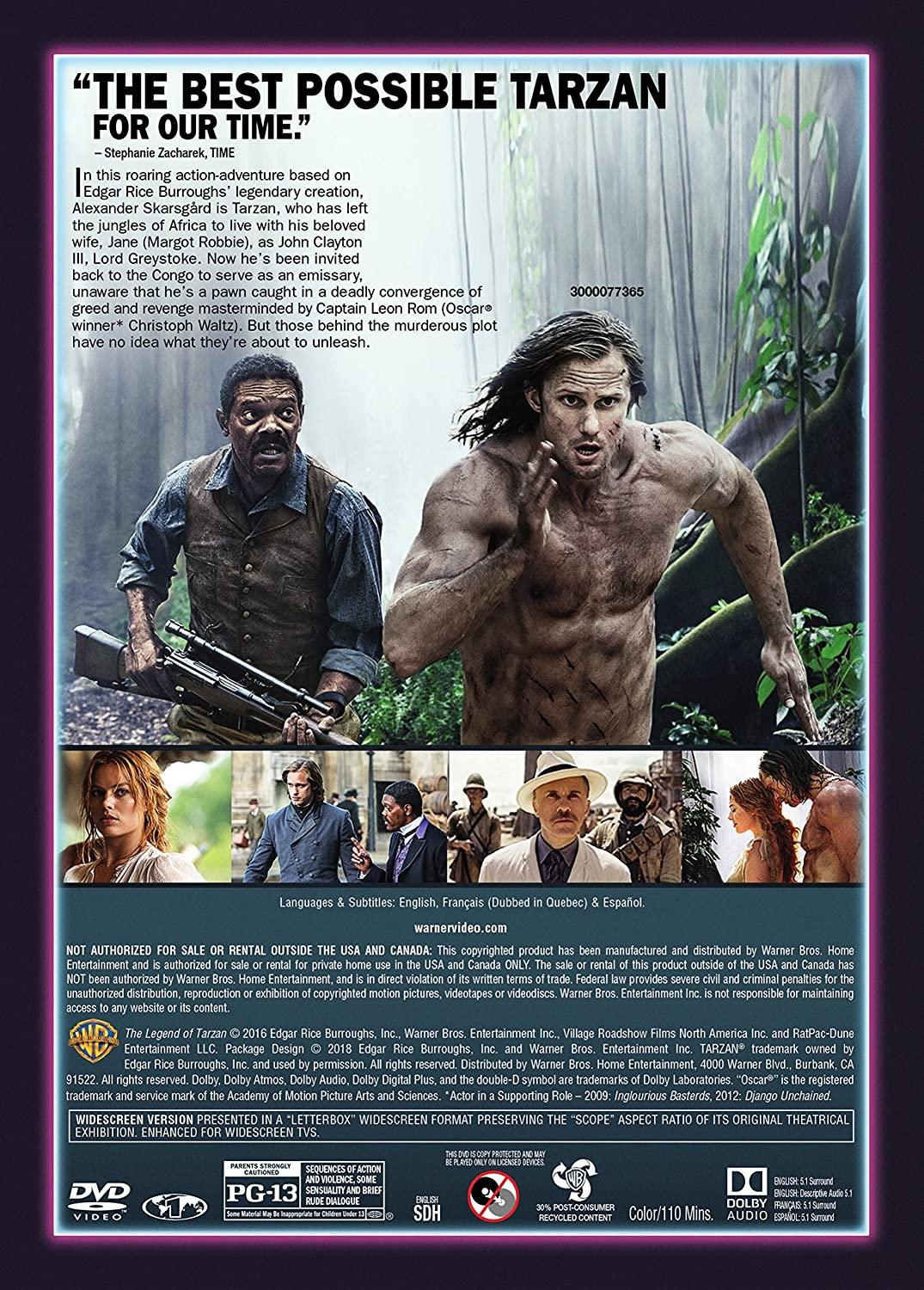 Amazon.com: The Legend of Tarzan: Adam Cozad, Craig Brewer, Alexander Skarsgård, Samuel L. Jackson, Margot Robbie, Djimon Hounsou, Ella Purnell, ...