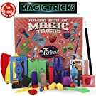 PinSpace Jumbo Magic Kits Set for Kids with Over 75 Magic Tricks, Classic Illusions, Mysterious Levitating Wand, Magic Cup Ball, Coin Tricks, Beginner Kits, Idea Birthday Gift for Kids 6 7 8 9 Years