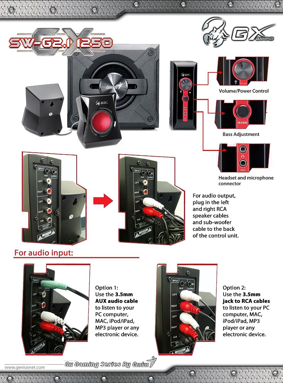 Genius SW-G2.1 1250 2.1 Channel Speaker