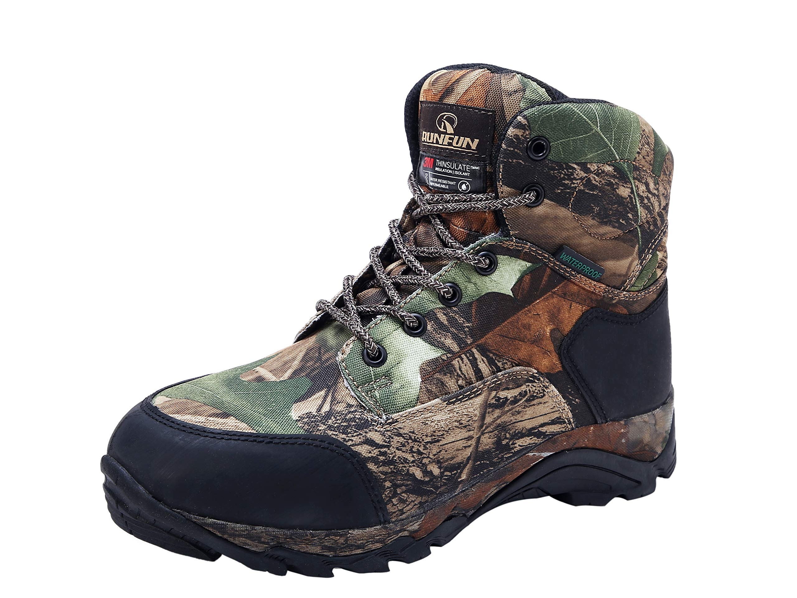 R RUNFUN Men's Lightweight Waterproof Hunting Boots Camouflage Outdoor