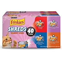 40-Count Purina Friskies Canned Wet Cat Food Variety Pack