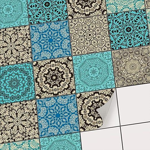 Amazon.de: Fliesensticker Dekoraufkleber Mosaikfliesen | Fliesen ...