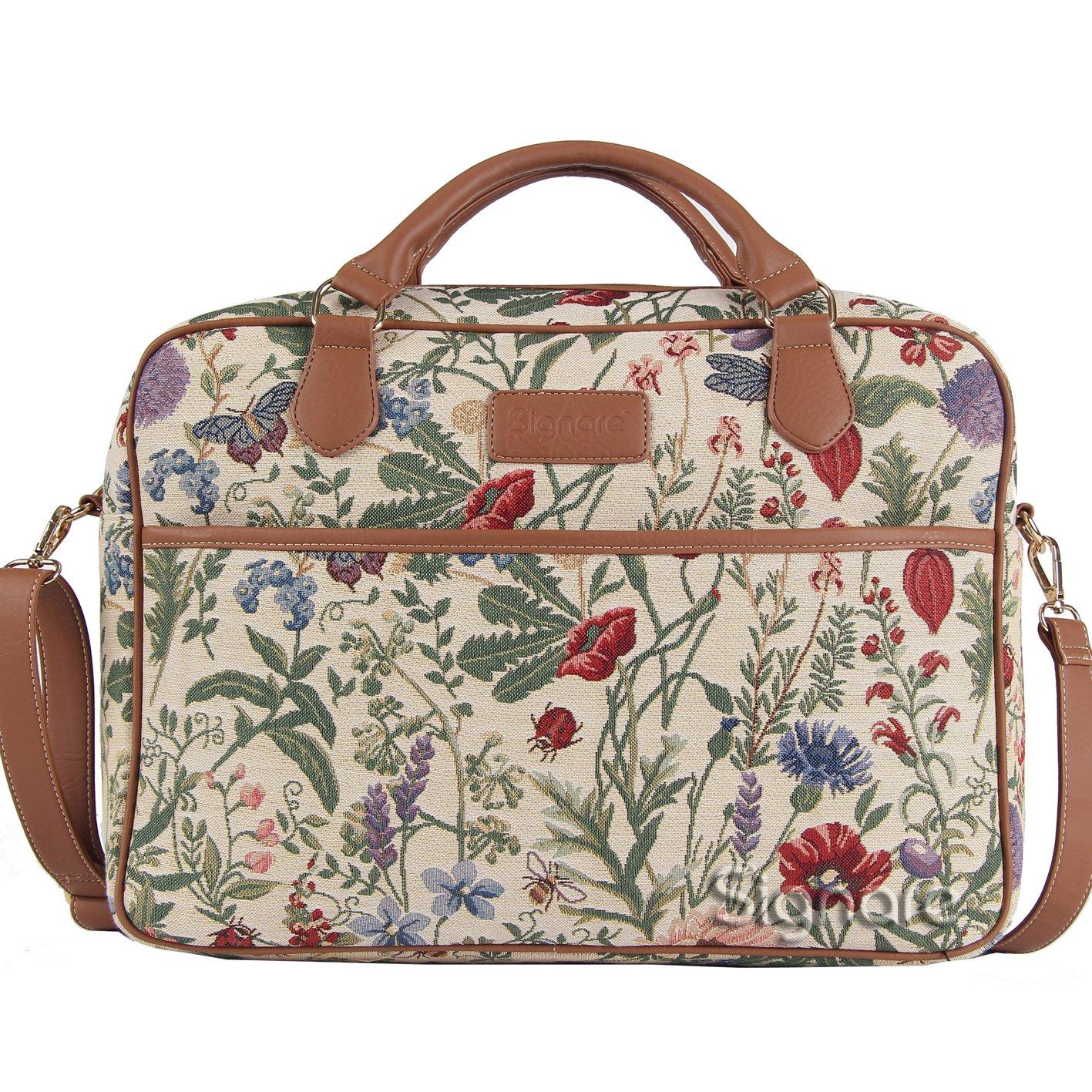 Signare Borsa briefcase donna tessuto stile arazzo alla moda, 15,6 pollici Giardino al mattino 5762561
