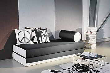 Innovation Dulox Duo Schlafsofa 200x80cm Schwarz Weiß Bezug Dess