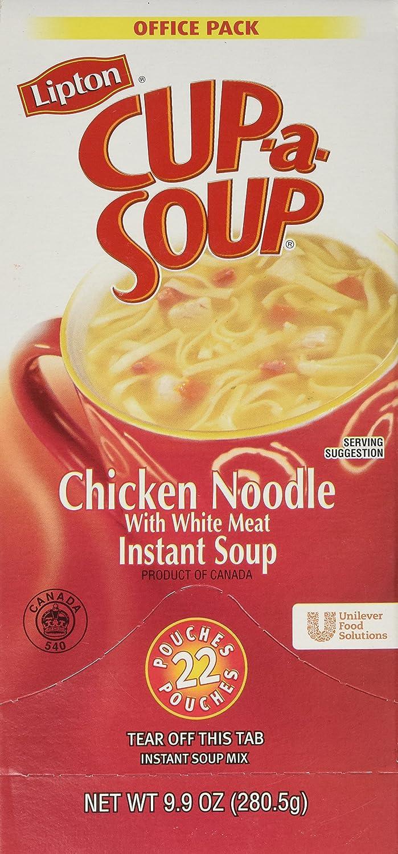 Lipton Cup-A-Soup, Chicken Noodle, 9.9 ounce,22-count