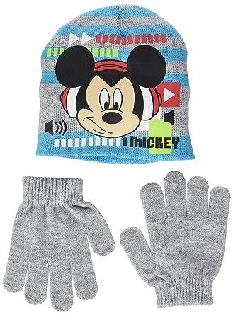 dec1d7307c444 MICKEY Mouse Sound Up, Ensemble de Bonnet et de gants Garçon: Amazon ...