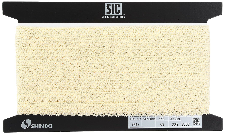 SHINDO トーションレース 約12mm (30m) SIC-7247 03   B00IX7RJ7Y