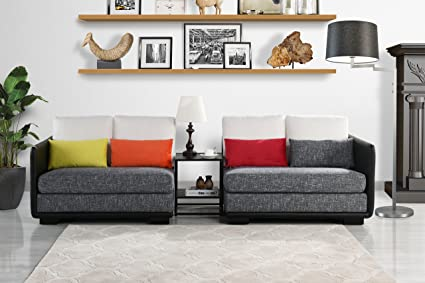 Strange Classic 2 Piece Colorful Convertible Living Room Sofa Adjustable Couch Black Dark Grey Gmtry Best Dining Table And Chair Ideas Images Gmtryco