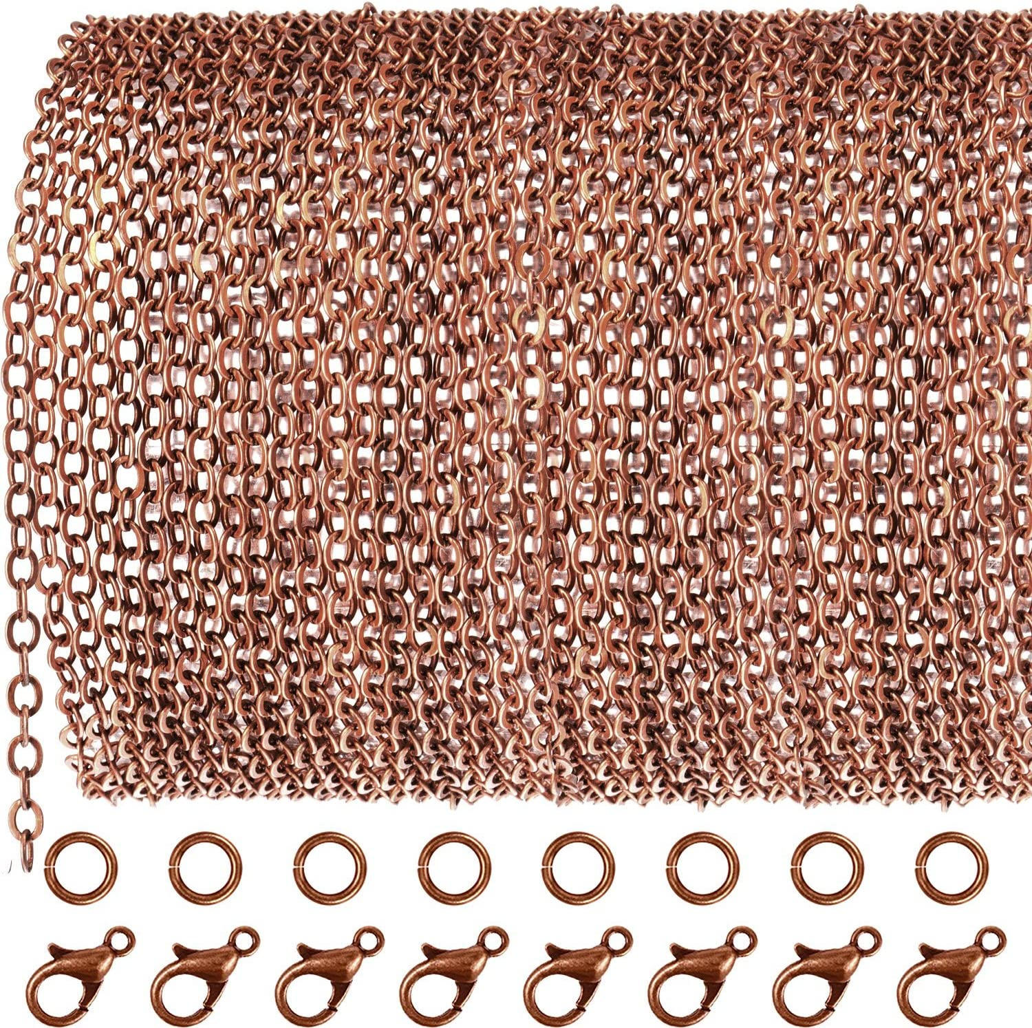 33F 32 feet of Antique Copper Flat Cable Chain 3x3mm Solder Cable Chain