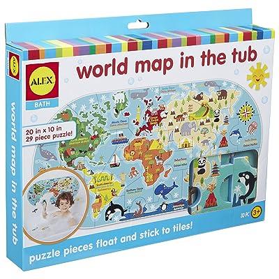 ALEX Bath World Map in the Tub: Toys & Games