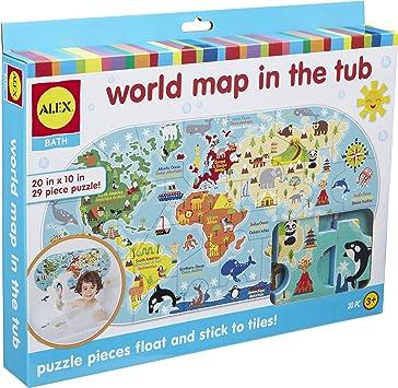 Alex - Mapa del Mundo en el baño (Janod 200020): Amazon.es: Juguetes y juegos
