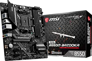 MSI MAG B550M Bazooka Gaming Motherboard (AMD AM4, DDR4, PCIe 4.0, SATA 6Gb/s, M.2, USB 3.2 Gen 1, HDMI/DP, Micro-ATX)