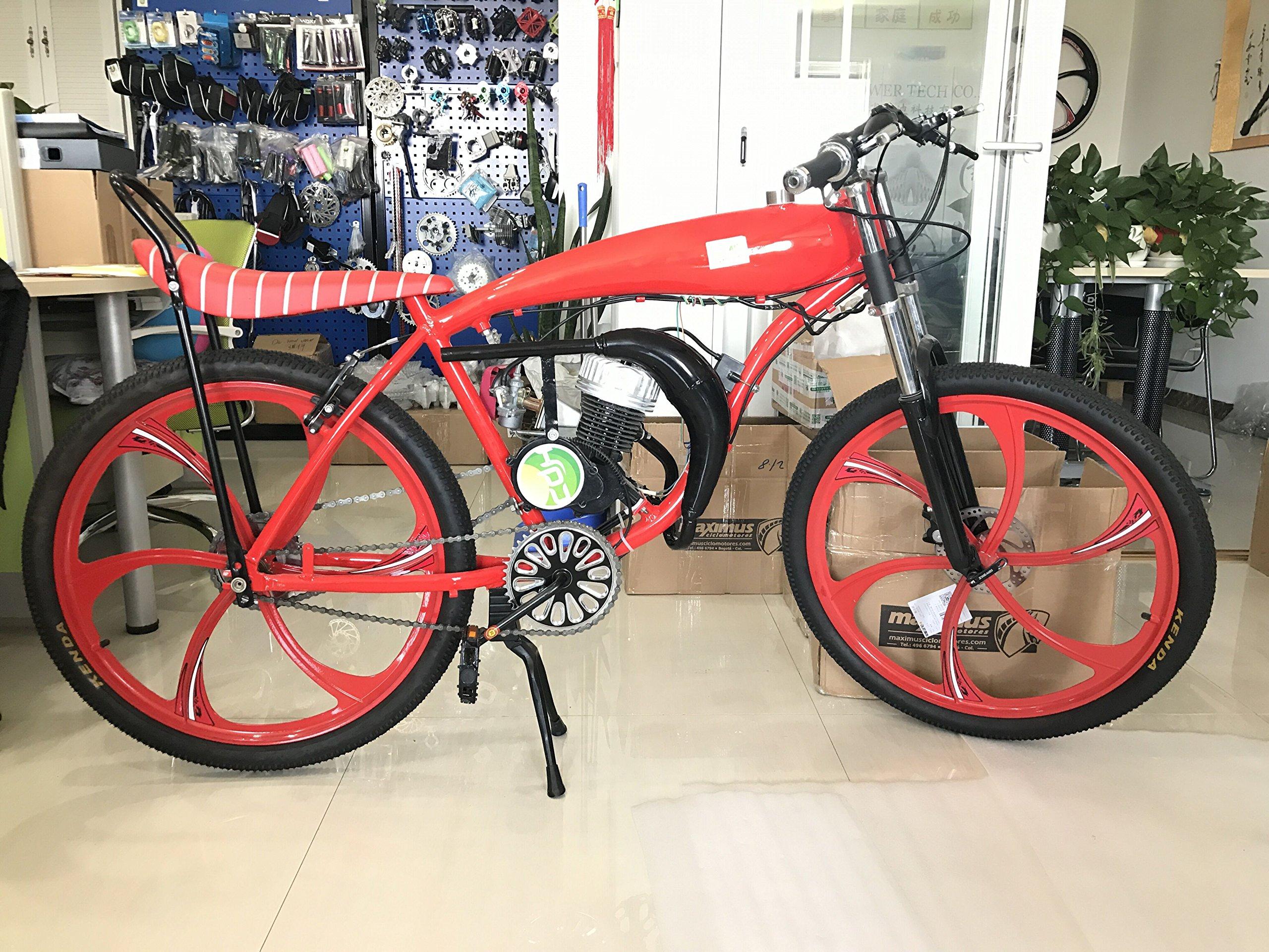 CDHPOWER CDH66 muffler black - 2 stroke gas motor engine kit- Gas Motorized Bicycle