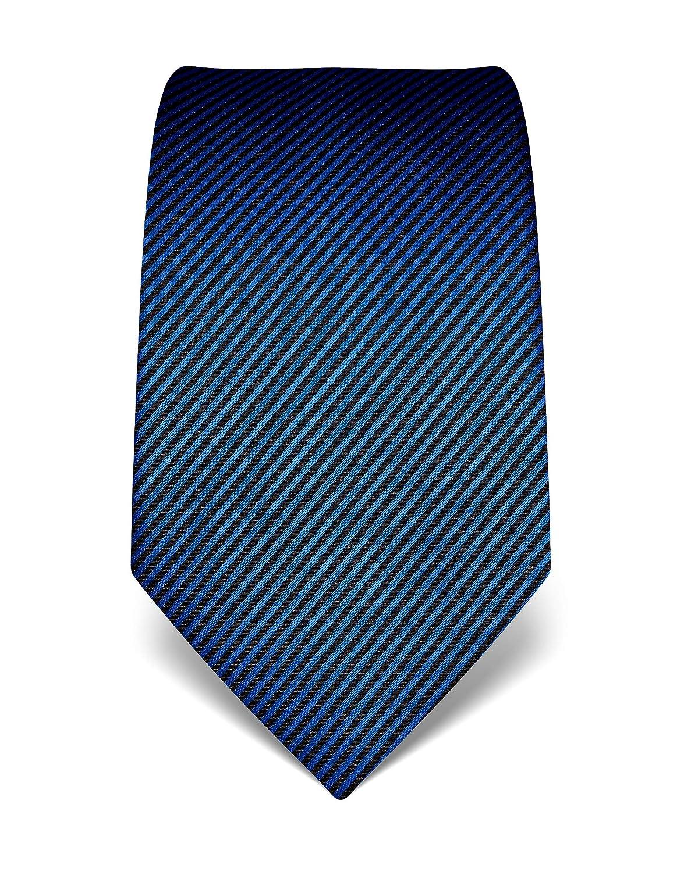 Vincenzo Boretti Corbata de hombre en seda pura, de rayas azul ...