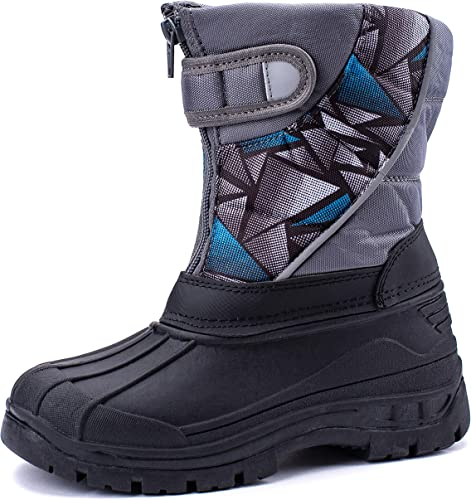 CHILDRENS KIDS SNOW BOOTS GIRLS WINTER SKI WARM FUR THERMAL BOOTS SIZE 3-8