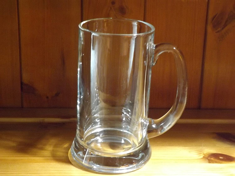PINT TANKARD HEAVY GLASS TANKARD