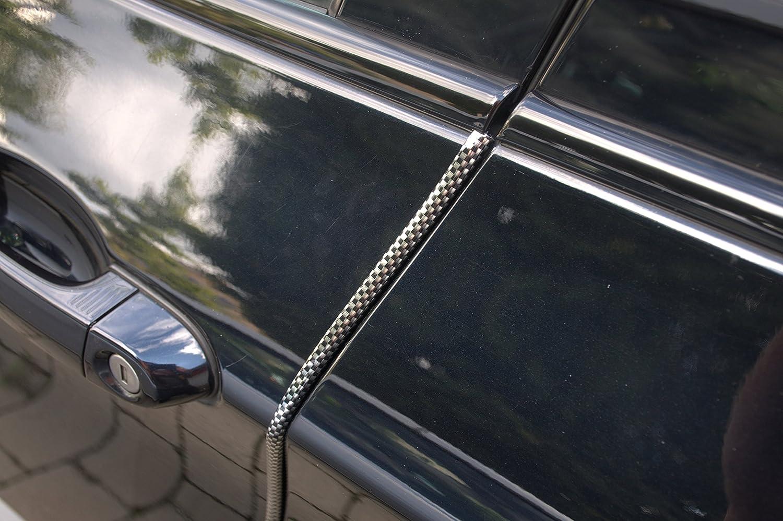 4 Meter T/ürkantenschutz Carbon Look schwarz T/ürrammschutz Gummi sch/ützen Sie effektiv Ihren kostenbaren Auto Lack